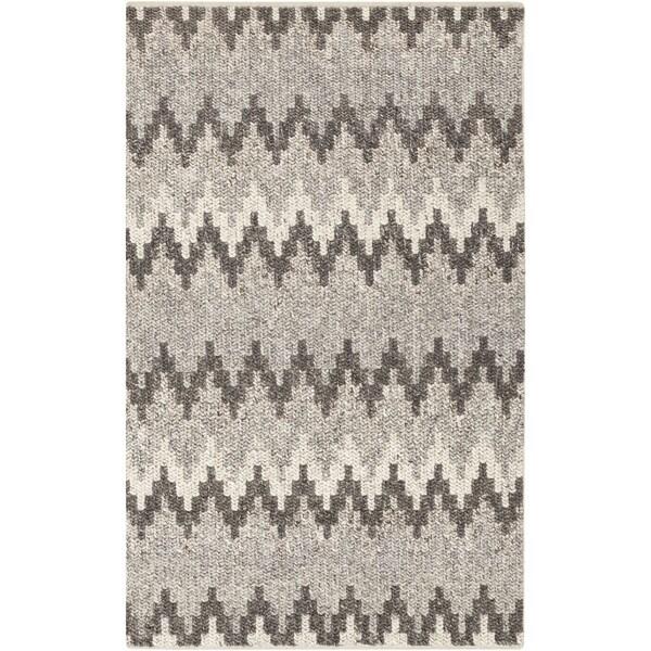Hand-Woven Sammy Chevron Wool Rug (8' x 10')