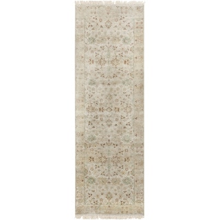 Candice Olson : Hand-Knotted Trevor Border Indoor Rug (2'6 x 8')