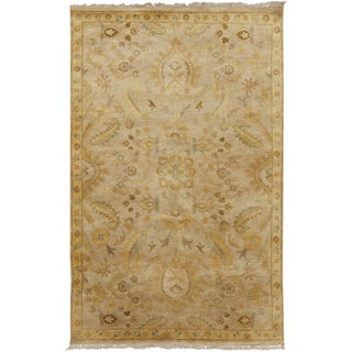 Candice Olson : Hand-Knotted Tyrese Border Indoor Rug (3'3 x 5'3)