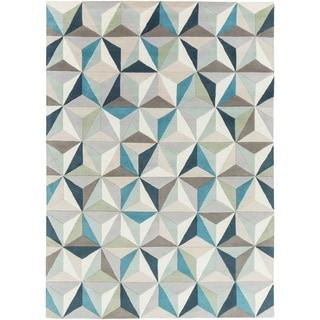 Hand-Tufted Roselyn Geometric Wool Rug (8' x 11')