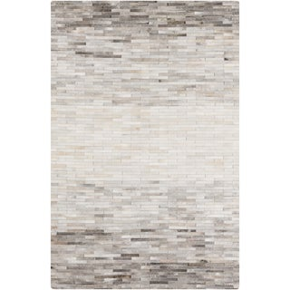 Hand-Crafted Mamie Geometric Hair On Hide Rug (8' x 10')