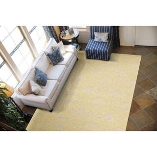 Rug Squared Corona Yellow Rug (5'3 x 7'5)
