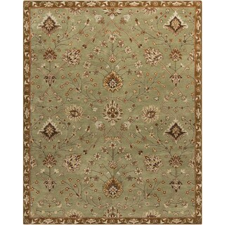 Hand-Tufted Reeves Floral Wool Rug (8' x 10')
