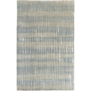Candice Olson :Hand-Knotted Teviot Stripe Pattern Rug (8' x 11')