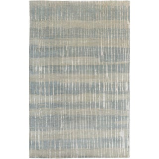 Candice Olson :Hand-Knotted Teviot Stripe Pattern Rug (5' x 8')