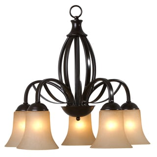 Tioga Pass 113 5D ORB 5-light Bronze Chandelier