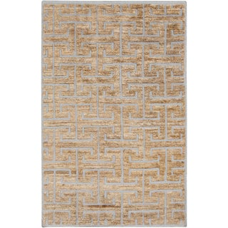 Hand-Knotted Maxwell Geometric Indoor Rug (8' x 11')