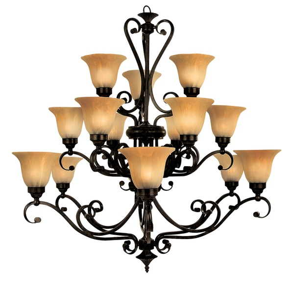 Florence 94830 3+6+6VB 15-light Bronze Chandelier