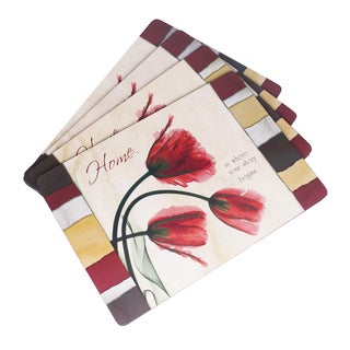 'Home is Where Your Story Begins' Cork Placemat Set (Pack of 4)