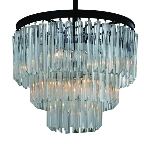 Cesar ULR378 9MB 9-light Black Chandelier