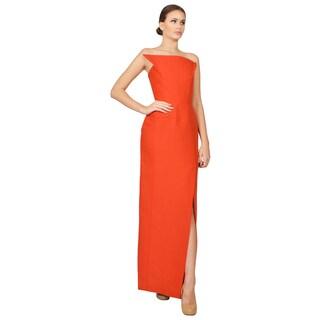 Roland Mouret Women's Red Galaxy Strapless Formal Gown