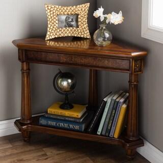 Regal Antique Cherry Finish Corner Table
