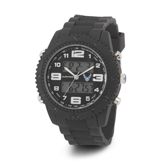 Wrist Armor Men's 37300005 U.S. Air Force C27 Black Tachymeter Watch