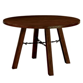 Furniture of America Montelle Dark Oak Round Dining Table