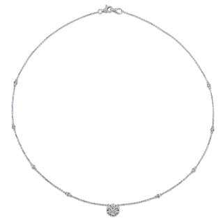 Miadora 14k White Gold 3/4ct TDW Diamond-by-the-Yard Necklace (G-H, SI1-SI2)