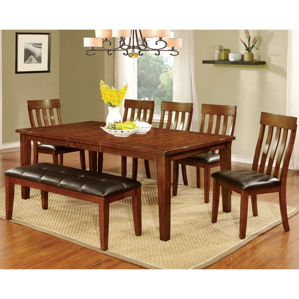 Furniture Of America Richmonte Country Style Cherry Dining Table With