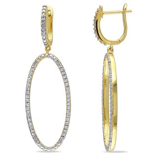 Miadora 14k Yellow Gold 1/10ct TDW Diamond Dangle Earrings (G-H, SI1-SI2)