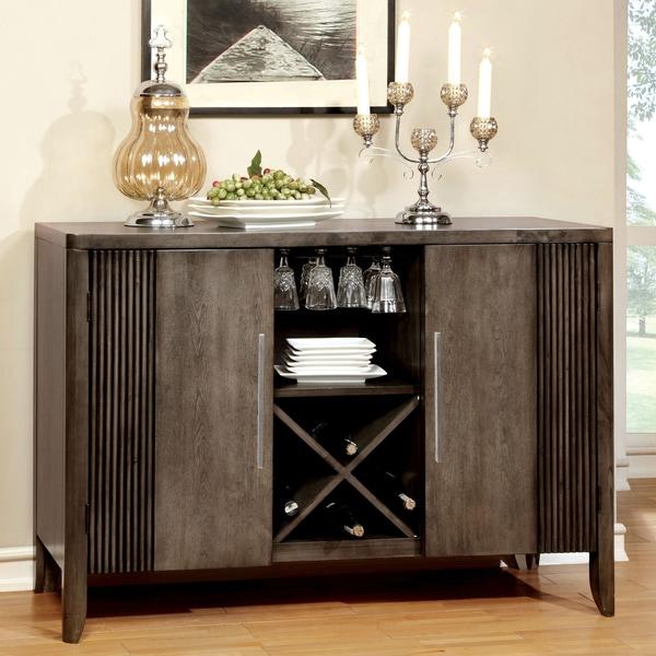 Furniture of america mariselle grey dining server for Furniture of america reviews