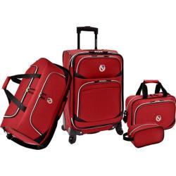 Beverly Hills Country Club San Vincente 4-Piece Luggage Set Red
