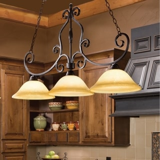 Manor Bronze Iron 3-light Mini-chandelier