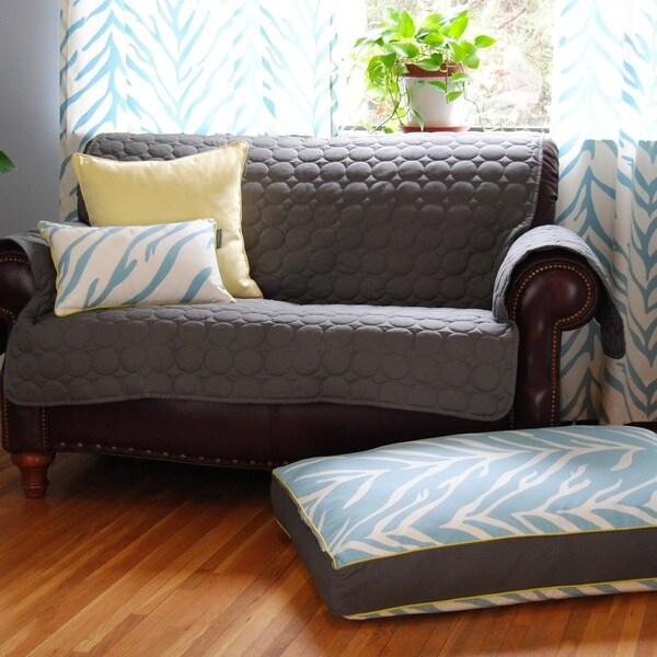 EZ Living Home Zebra Print Water Repellent Reversible Memory Foam Topper Cott