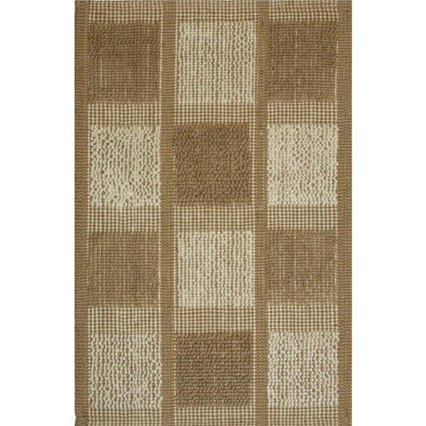 Natural Jute Chain Loop Area Rug (2x3)