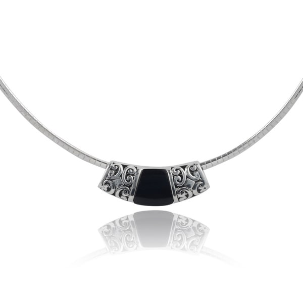 Journee Collection Sterling Silver Enamel Bead Necklace