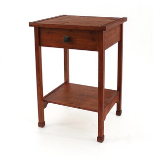 Brown Wood Side Table