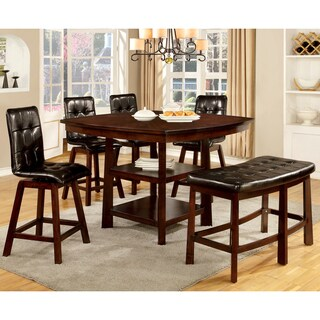 Furniture of America Kirill Dark Cherry Counter Height Table