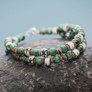 Handcrafted Ceramic 'Lachay' Bracelet (Peru)