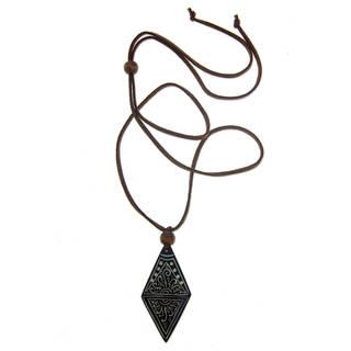 Handcrafted Bone 'Ethnic Elite' Cord Necklace (Indonesia)