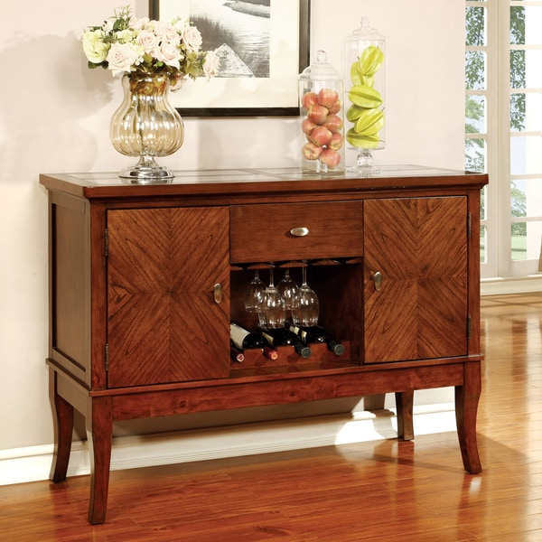 Furniture of America Darlene Dark Oak Dining Server