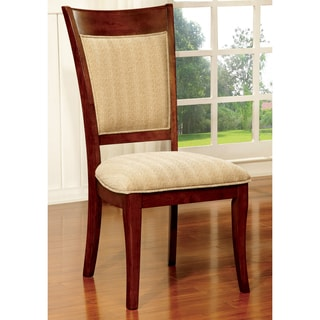 Furniture of America Darlene Dark Oak Dining Chair (Set of 2)