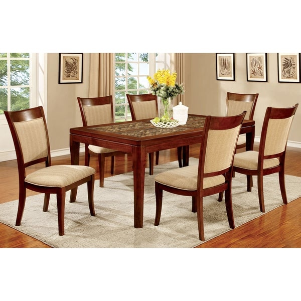 Furniture of America Darlene Dark Oak 66-inch Dining Table