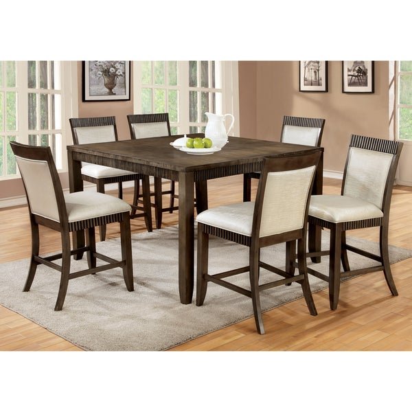 of america mariselle 7 piece urban grey counter height dining set