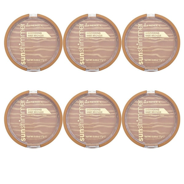 Rimmel Sunshimmer Shimmering Sun Kiss Maxi Bronzer (Pack of 6)
