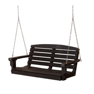 Somette Terra Black Poly Lumber Outdoor Swing