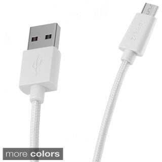 Zikko 4.9 ft. Braided Micro USB Data Cable for Galaxy S4/ S5/ S6