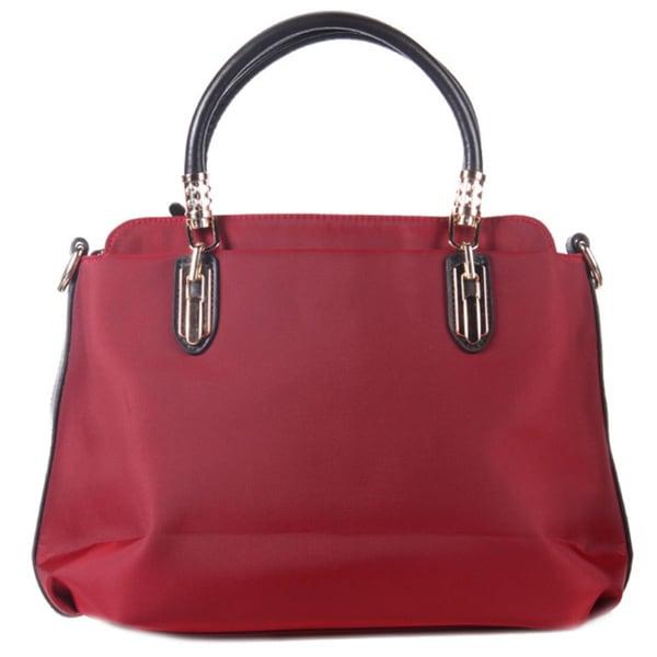 Nylon Bowler-Style Handbag