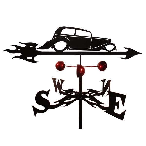 Steel Hot Rod Weathervane