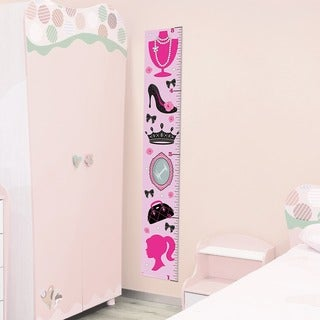Pink Diva Peel and Stick Growth Chart