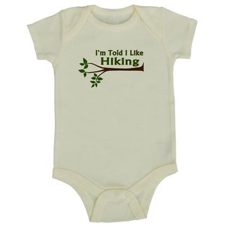 Rocket Bug 'I'm Told I Like Hiking' Cotton Baby Bodysuit