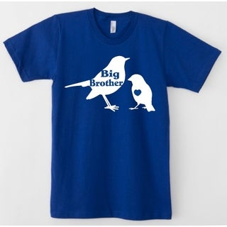 Rocket Bug Toddler's Blue Big Brother Bird Cotton Shirt