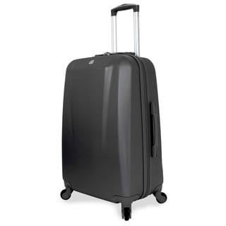 SwissGear 24-inch Medium Hardside Spinner Upright Black Suitcase