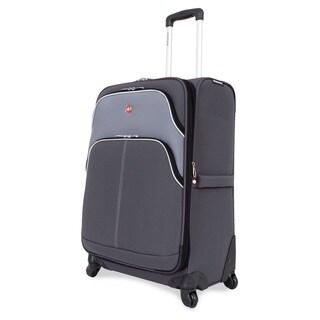 SwissGear 24.5-inch Medium Spinner Upright Grey/ Silver Suitcase
