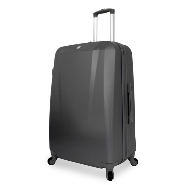 SwissGear 28-inch Large Hardside Spinner Upright Black Suitcase