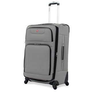 SwissGear 28-inch Large Spinner Upright Pewter Suitcase