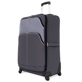 SwissGear 28-inch Large Spinner Upright Grey/ Silver Suitcase