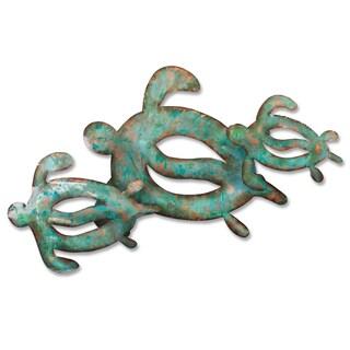 Iron Werks Sea Turtles Metal Wall Sculpture
