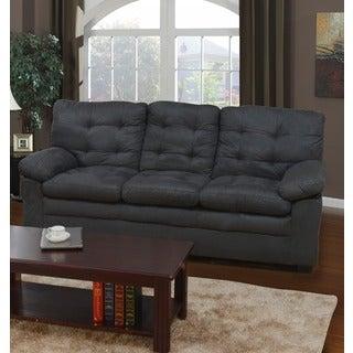 Grey Microfiber Tufted Sofa